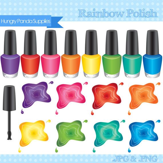 nail polish clipart vector free - photo #10