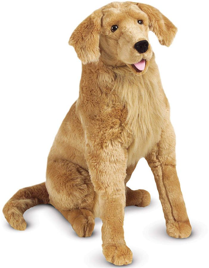 Melissa Doug Plush Lifelike Giant Golden Retriever Dog Pet
