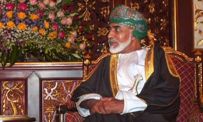 Omani Sultan Qaboos bin Sa'id Al Said em seu palácio em Salalah, Omã Foto: Daniel Acker / Bloomberg News