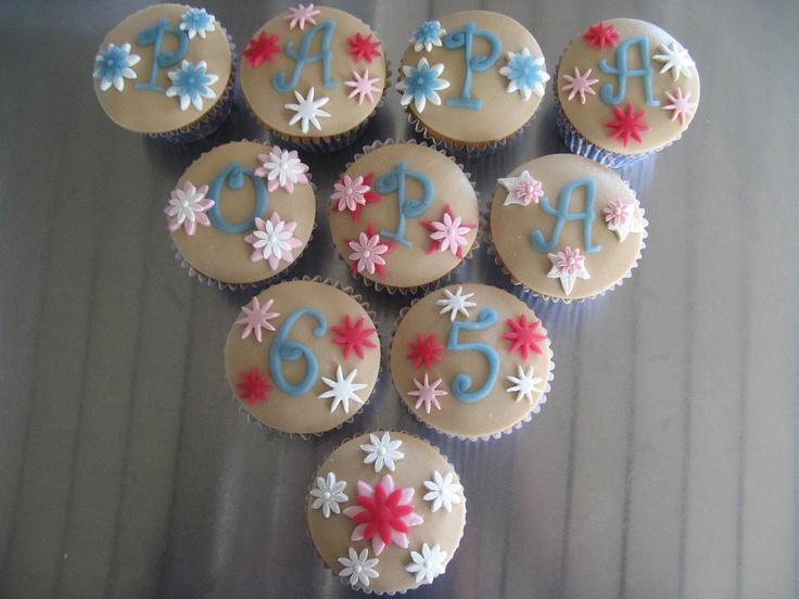 Cupcakes 65ste Verjaardag