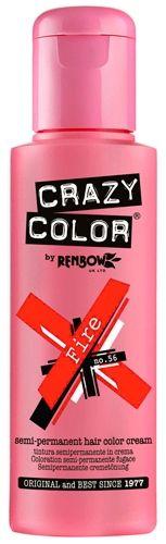 Coloration CRAZY COLOR - Fire - #Teinture Rouge Feu #Cheveux Semi Permanente Pour une #Coiffure #Rock #Punk #Gothique #Emo rockagogo.com