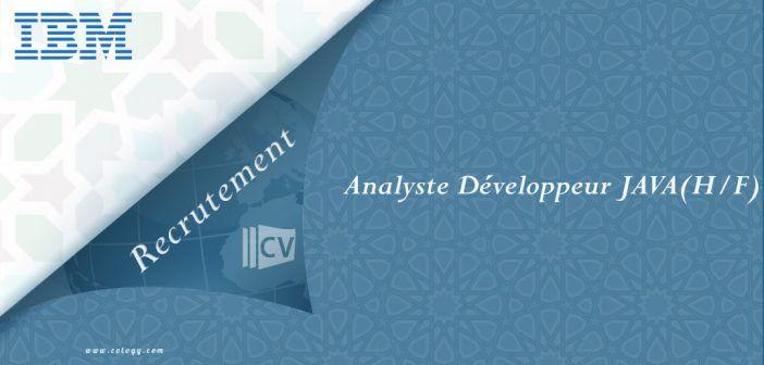 #IBM #Maroc: #Recrutement d' #Analyste #Développeur #JAVA Expérimenté (H/F) à #Casa
