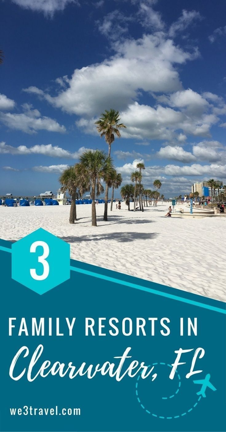 three spacious clearwater beach resorts perfect for families rh pinterest com