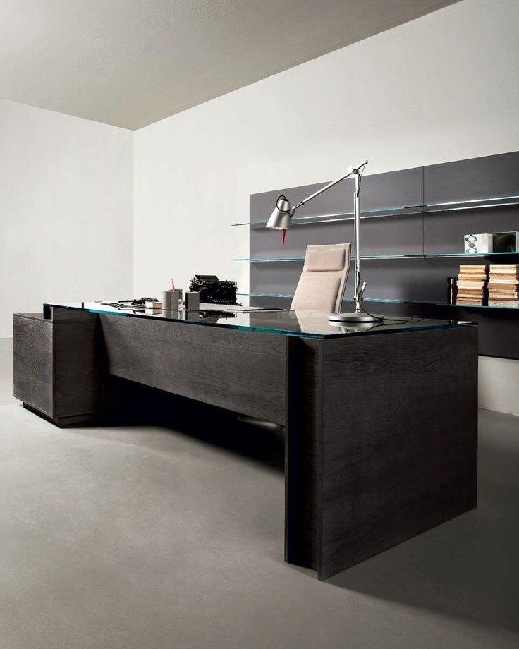 Executive desk / contemporary / ash / with storage - MILANO by Daniele Lo Scalzo Moscheri - Gallotti&Radice