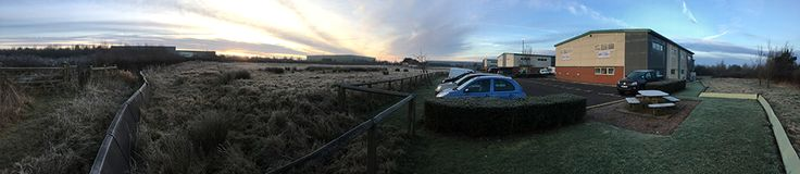 JLR Starts on Site. With morning frost on the ground it's a beautiful morning to take one final look at the new JLR site before the contractors take over.   43 weeks start…. NOW!!!!!  Follow us to see the project take shape from a bare site to a new Dick Lovett Dealership.  Thanks to Steve White of Square One Construction for the images.