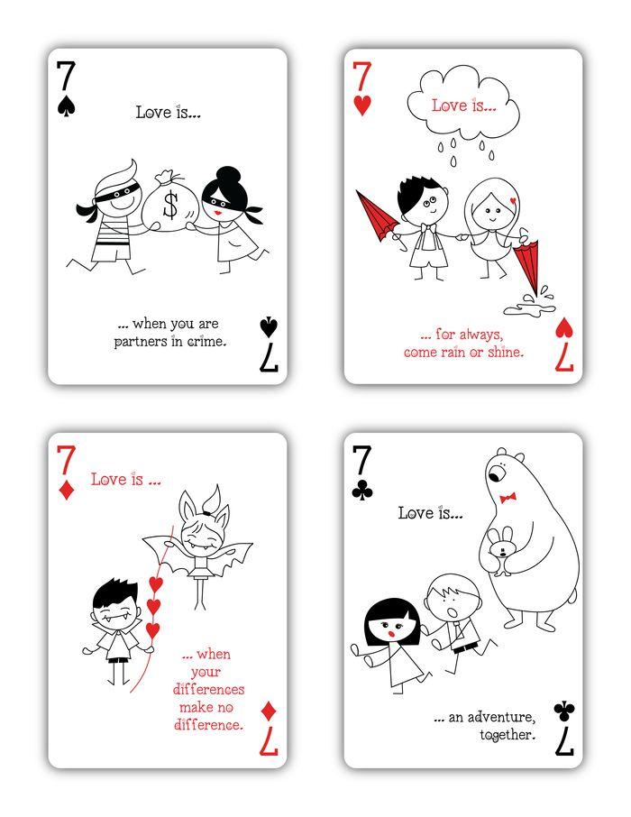 """Love is..."" Playing Cards by Natalia Silva — Kickstarter"