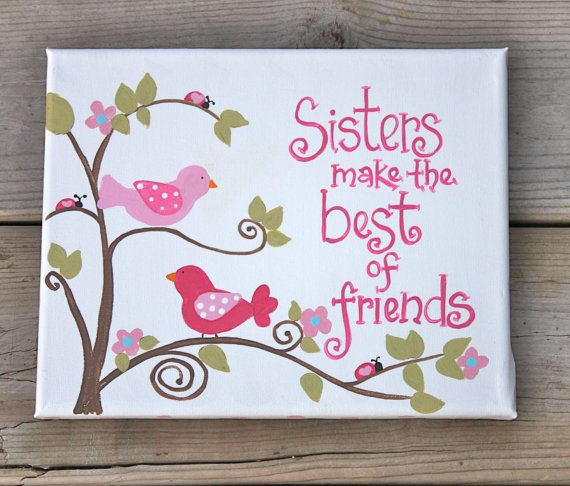 Quotes About Sisters From The Bible Verse Original Painting Childrens Art Canvas Via