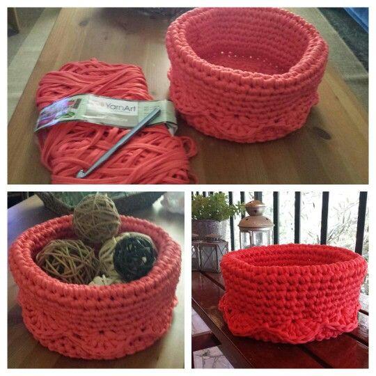 #crochet # t_shirt yarn #bowl