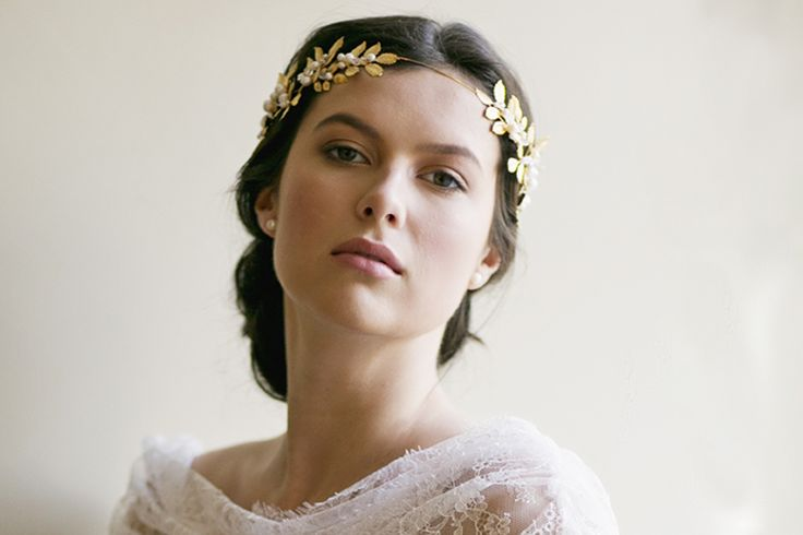 OCTAVIA ROMAN WEDDING CROWN   Erica Elizabeth Designs and Pretty Things Wedding Acccesories