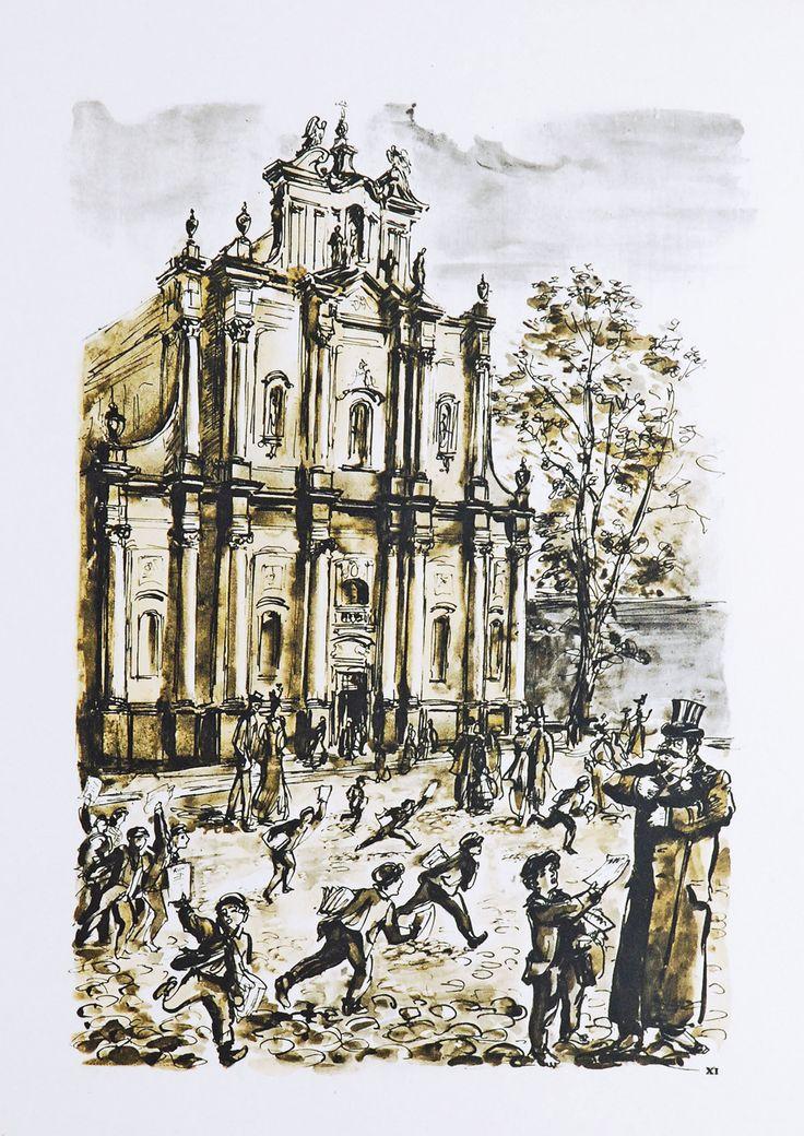 Antoni Uniechowski, teka Starej Warszawy, kościół Wizytek