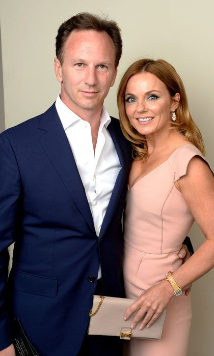 """Christian Horner and Geri Halliwell  The former Spice Girls member and her husband welcomed their first child, a son, together in January. Geri, who is a mother to daughter Bluebell from a previous relationship, and stepmother to Christian's daughter, Olivia, announced the news on Instagram. """"Montague George Hector Horner arrived this morning, a beautiful little brother for Bluebell and Olivia #amazing-day #grateful #monty,"""" she said."""