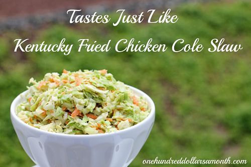 Kentucky Fried Chicken Cole Slaw - This recipe for copycat Kentucky Fried Chicken cole slaw is da' bomb! (I make this but I leave out the onions and instead of the milk and buttermilk I use 1/2 cup of sour cream. The milk and buttermilk combination makes it too runny).