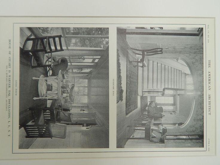 House of Stuart D. Warner, Esq., Douglaston, L.I., NY, 1914, Lithograph. Mr. G. Howard Chamberlain