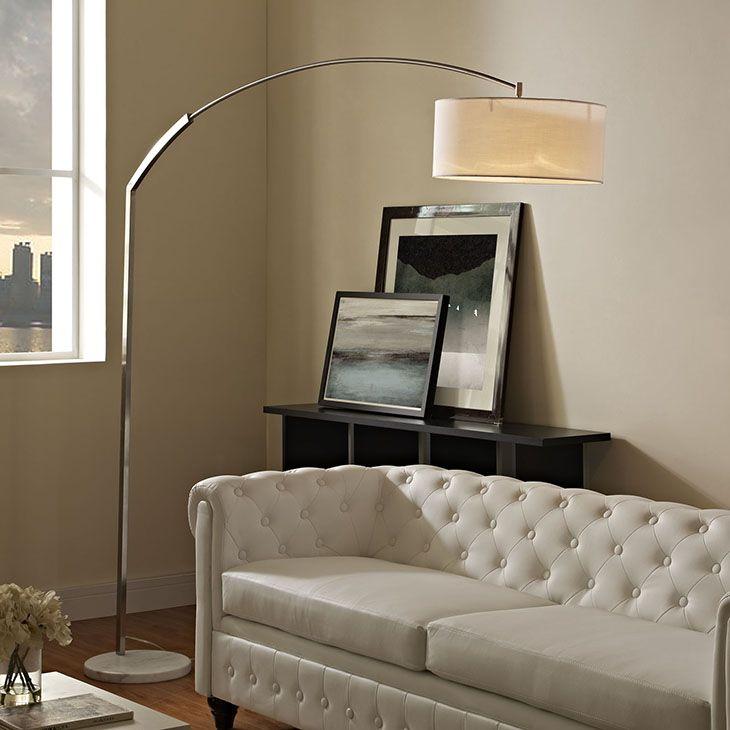 STROBE MARBLE FLOOR LAMP IN WHITE Infuse