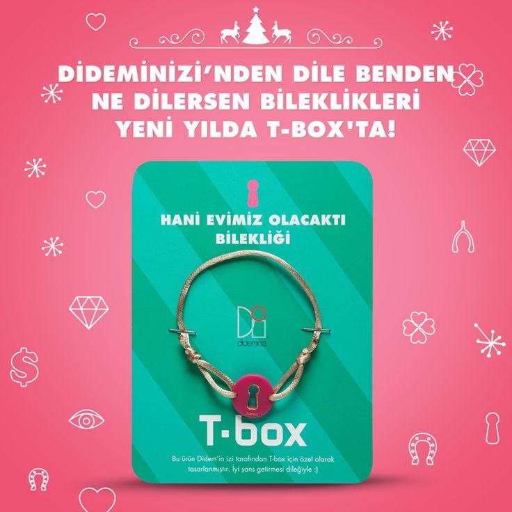 """Didemin İzi for T-box! Yeni yılda """"hani evimiz olacaktı"""" bilekliği #dideminizi #dideminizifortbox #aksesuar #bileklik"""