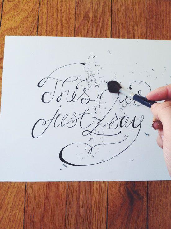 Hand lettering tutorial @Amanda Snelson Snelson Kirkwood  @Brittney Anderson Anderson Jeanne Maynard