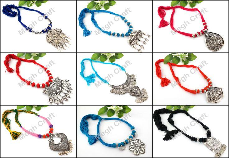 Designer SILVER PLATED PENDANT Retail : https://www.craftnfashion.com Whatsapp : 9375519381 E-mail : craftnjewelery@gmail.com