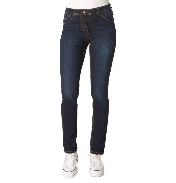 """Jeans """"Toronto"""", Tight Fit, High Rise, Label-Patch"""