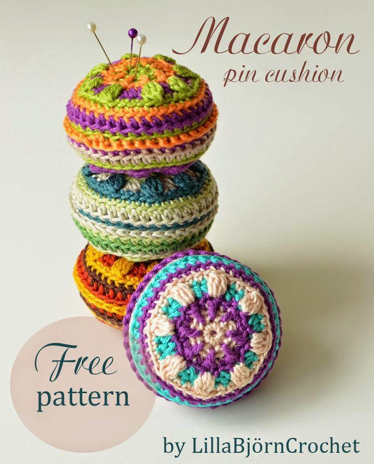 Crochet pin cushion Free pattern if subscribe, thanks so xox  ☆ ★  https://www.pinterest.com/peacefuldoves/
