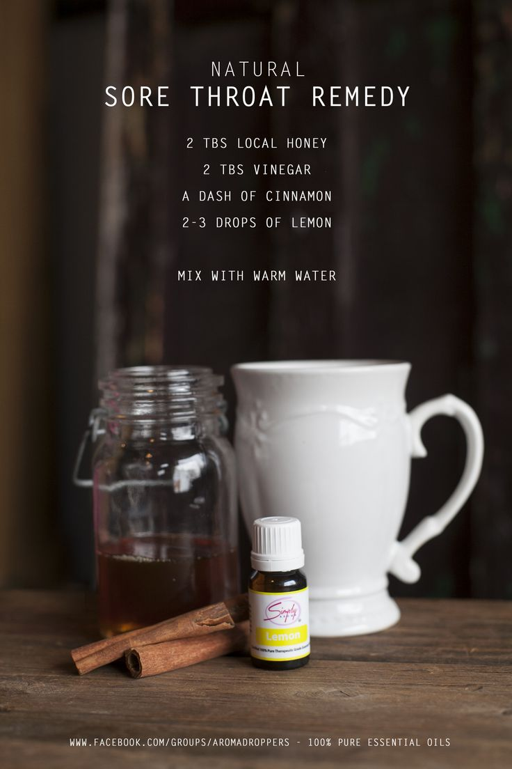 Natural Sore Throat Remedy using Simply Aroma Essential Oils Lemon Essential Oil Local Honey