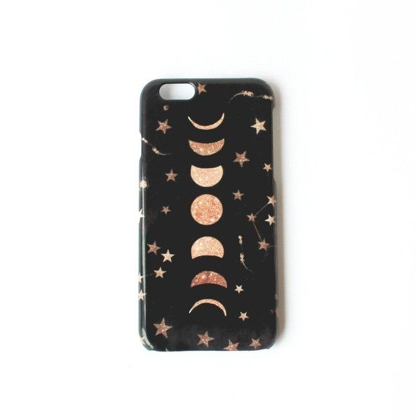 Nikki Strange - Phases Of The Moon & Stars Galaxy Phone Case For... ($33) ❤ liked on Polyvore featuring accessories and tech accessories