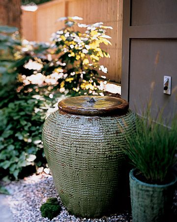 diy: sonorous ceramic water feature...