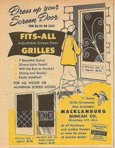Vintage Screen Doors - love the one with the bird!