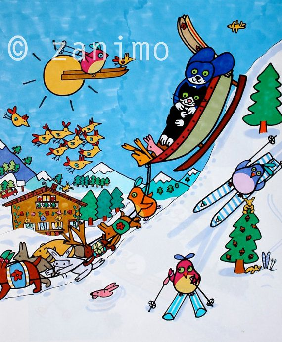 Gofrette sleighriding with his best friend taken from by Zanimo, $20.00