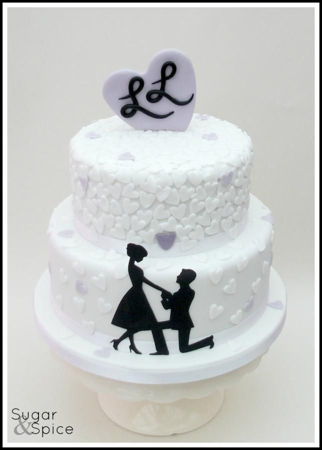 Marry Me ? black and white cake