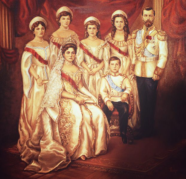 """The last Imperial Royal family of Russia. """"AL"""""""