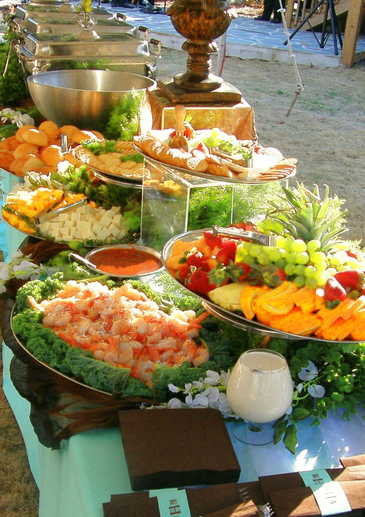 Outdoor Hors d'oeuvres. Visit A Silverware Affair http://www.asilverwareaffair.net for all of your event needs. #Chattanooga #Event #Food #Catering