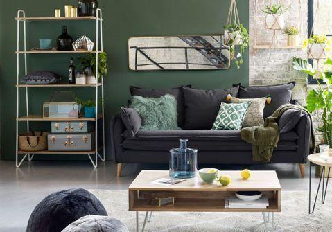 Soldes La Redoute Interieurs Hiver 2020 35 Pieces Qui Nous Font Craquer Elle Decoration Deco Canape Gris Canape Velours Deco Salon