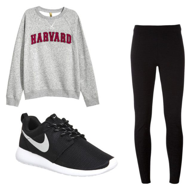 """""""Harvard Outfit"""" by josiasashlee on Polyvore featuring NIKE"""