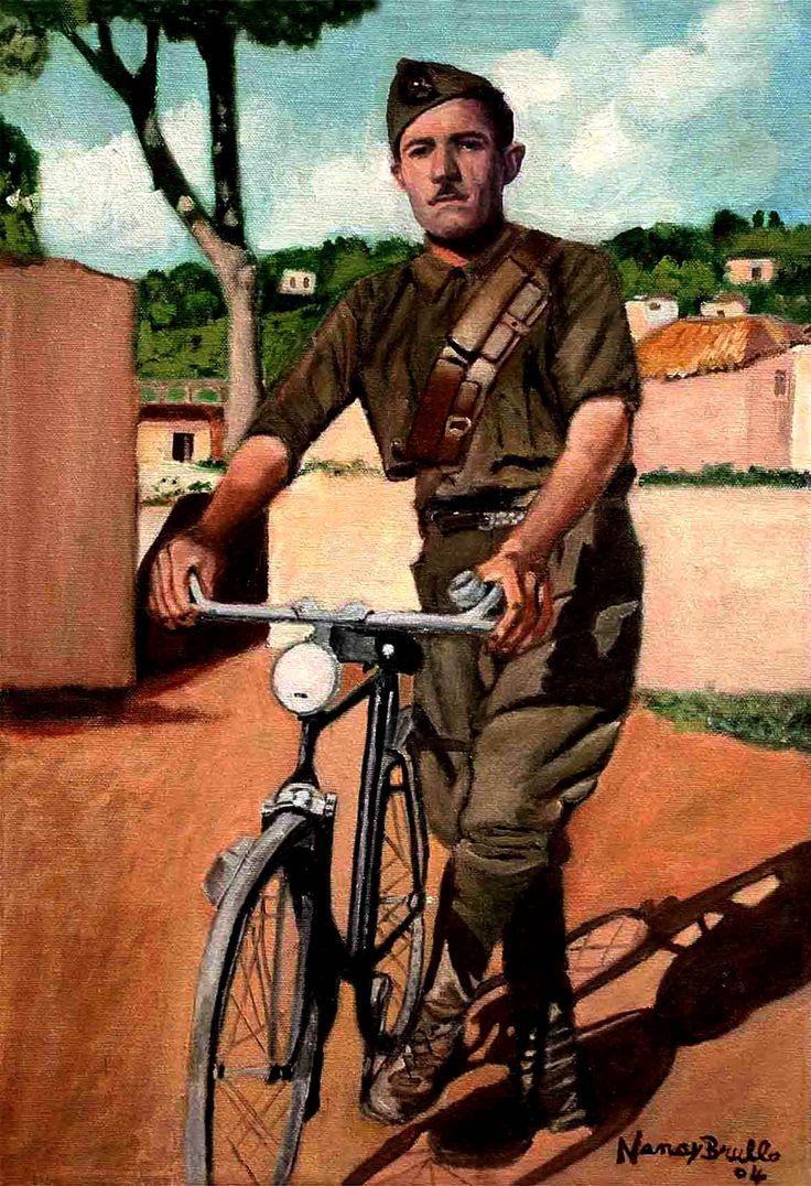 Papà in bici 35x50cm