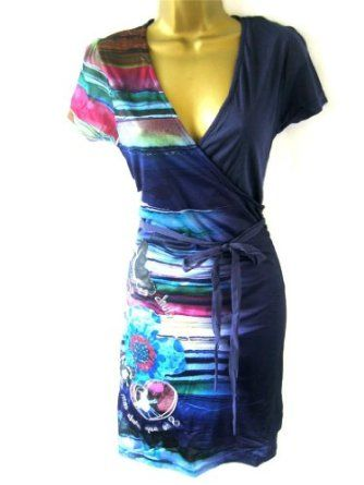 Desigual Vest Lina Dress Blue Purple