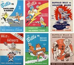 Buffalo Bills vintage programs - I started going to Bills games at War Memorial in the early sixties - I was a little kid and my father had season tickets. I'm still a Bills fan, although I left Buffalo over thirty year ago. Go Bills! -mgb