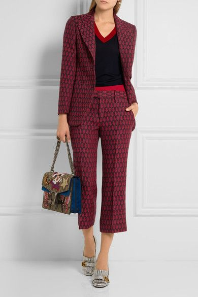 Gucci - Woven Wool Flared Pants - IT44