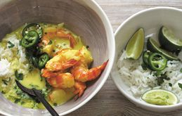 Summer Suppers: Coconut Curry with Prawns 30 minutes, serves 2