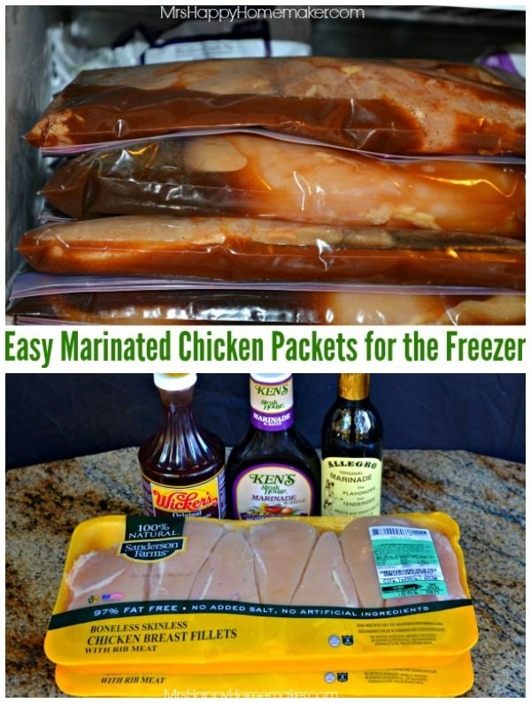 Easy Marinated Freezer Chicken Packets - Dinner Made Easy!