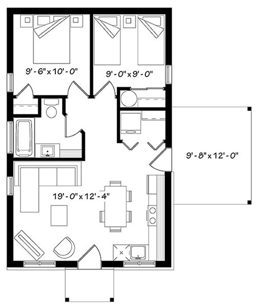 pin by marisol ventura on small house small house floor plans rh pinterest com