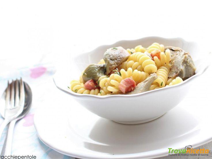 FUSILLI CON CARCIOFI E PANCETTA  #ricette #food #recipes
