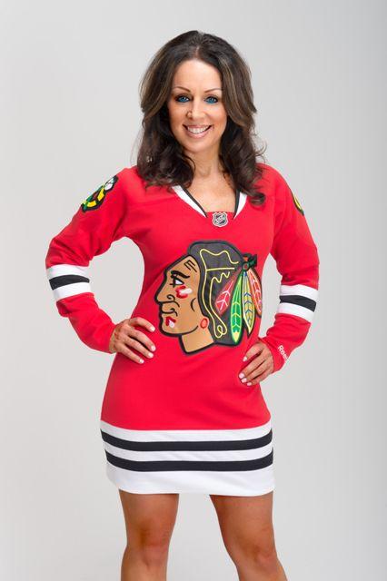 CHICAGO BLACKHAWKS DRESS. WANT !!!!! ❤️❤️❤️