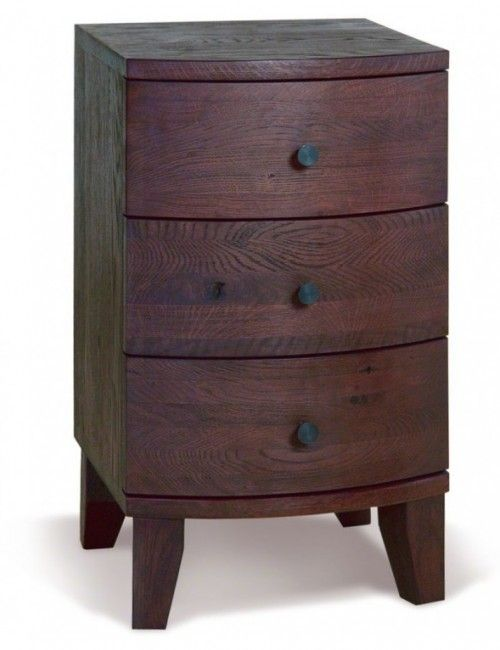 Dark pine bedside table - a small cute nightstand for your sleeping room.