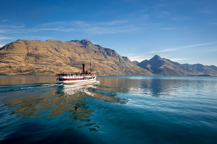 The TSS Earnslaw heading out to Walter Peak High Country Farm on a perfect summer's afternoon  Photo: Miles Holden