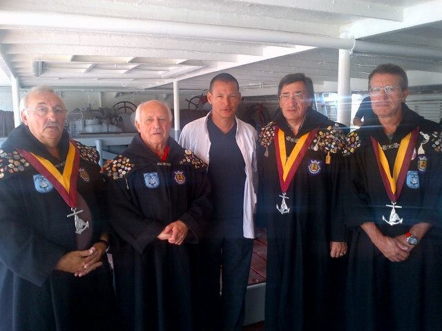 Chef Bobby Chinn ( from the travel channel) went to the sea festival 2012 in my little town (Gafanha da Nazare, Portugal)