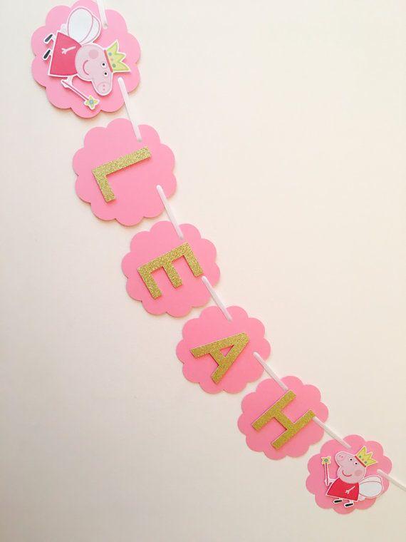 Banner de cumpleaños Peppa pig decoraciones de por SassyPartyDecor