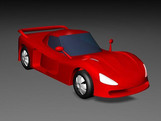 Red Cartoon Car 3d Model 3ds Max Files Free Download Modeling 43633 On Cadnav Car 3d Model Car Cartoon Car