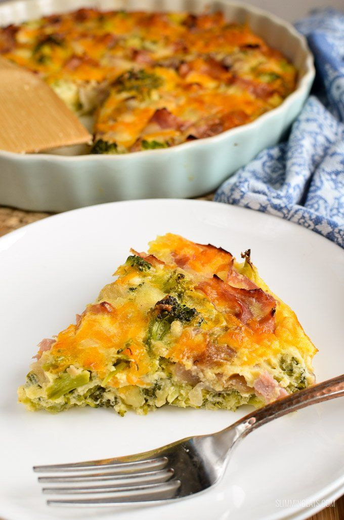 Syn Free Ham and Broccoli Quiche – Slimming world diet
