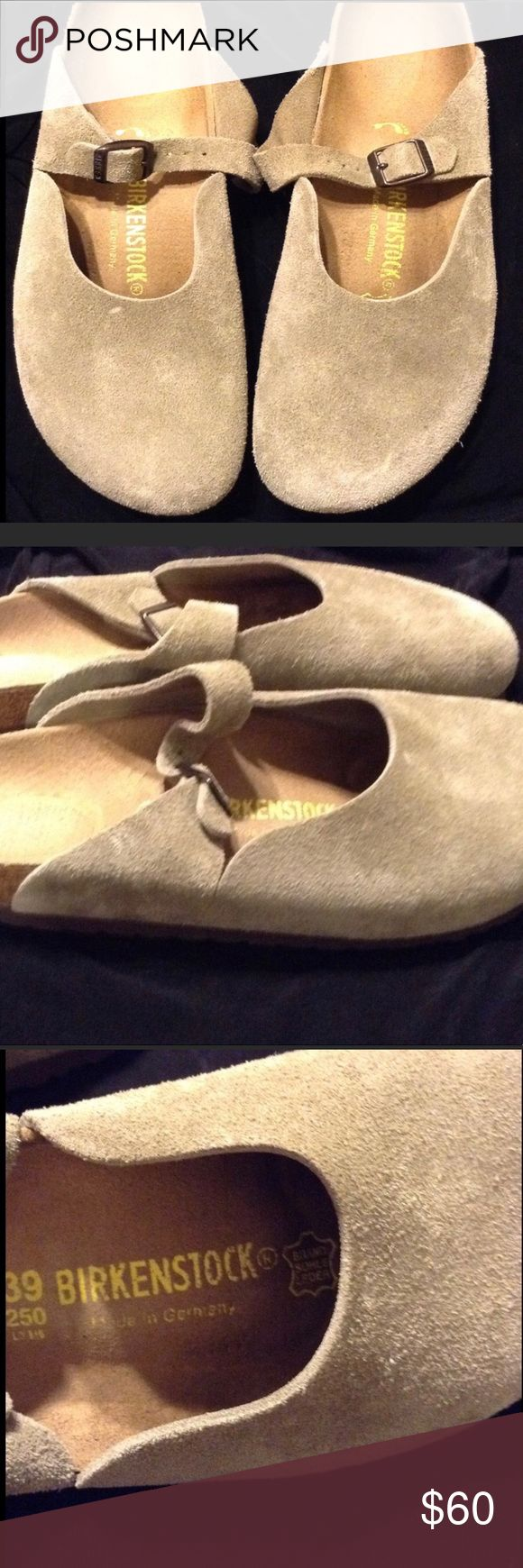 Birkenstock: Clog (Suede Taupe) A classic Birkenstock style made of soft taupe suede; Very healthy arch support; Stylish feminine buckle strap could be styled with leggings, pants or skirts! I cannot wear narrow Birkenstocks and haven't been able to wear them Birkenstock Shoes Mules & Clogs