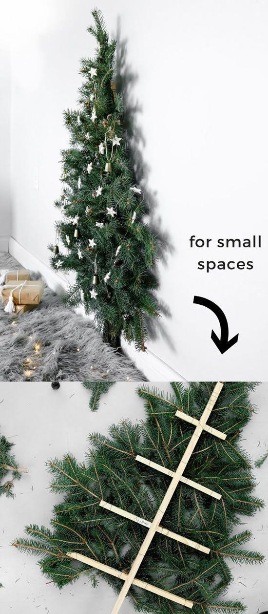 Schöne und verschiedene Weihnachtsbäume